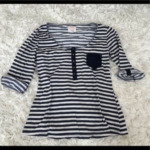 Quiksilver Striped Top Size Large